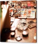 Behind The Scenes, Make-up Canvas Print