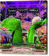 Bellagio Conservatory Spring Display Ultra Wide 2 To 1 Aspect Ratio Canvas Print