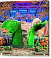 Bellagio Conservatory Spring Display Ultra Wide Trees 2018 2 To 1 Aspect Ratio Canvas Print