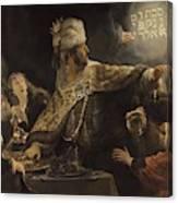 Belshazzar S Feast  Canvas Print