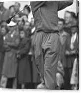 Ben Hogan Swinging Golf Club Canvas Print