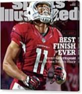 Best Finish Ever Arizonas Larry Fitzgerald One-ups Aaron Sports Illustrated Cover Canvas Print