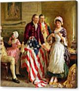 Betsy Ross And General George Washington Canvas Print