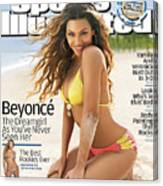 Beyonce Swimsuit 2007 Sports Illustrated Cover Canvas Print