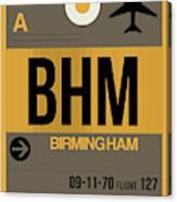 Bhm Birmingham Luggage Tag I Canvas Print