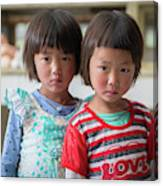 Bhutan Twins Canvas Print
