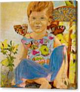 Bianka And Butterflies Canvas Print