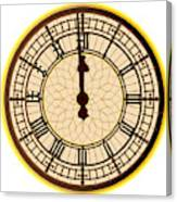 Big Ben Midnight Clock Face Canvas Print