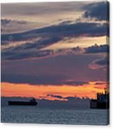 Big Boat Silhouettes Canvas Print