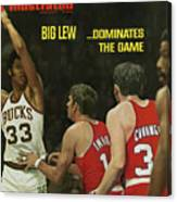 Big Lew . . . Dominates The Game Sports Illustrated Cover Canvas Print