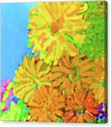 Biggie Flowers Sky Canvas Print