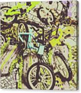 Bikes And City Routes Canvas Print