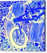 Biking Blue Canvas Print
