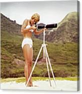 Bikini Girl And Camera Canvas Print