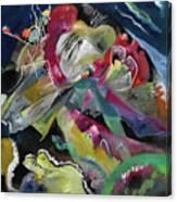 Bild Mit Weissen Linien - Painting With White Lines Canvas Print