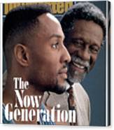 Bill Russell And Charlotte Hornets Alonzo Mourning, 1993 Sports Illustrated Cover Canvas Print