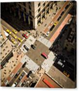 Birds Eye View Of Manhattan, Looking Canvas Print