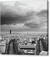Black And White Aerial View Of An Canvas Print