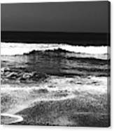 Black And White Beach 7- Art By Linda Woods Canvas Print