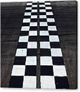 Black And White Finish Line Canvas Print