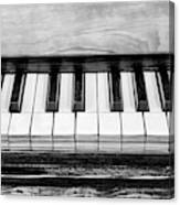 Black And White Piano Canvas Print