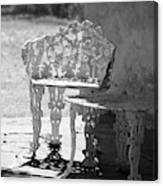 Black and White Seating Area Fort Stanton New Mexico Canvas Print