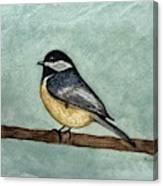 Black Capped Chickadee Canvas Print