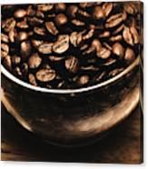 Black Coffee, No Sugar Canvas Print