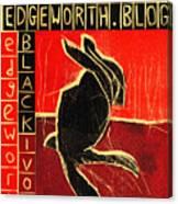 Black Ivory Rabbit Canvas Print