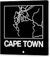 Black Map Of Cape Town Canvas Print