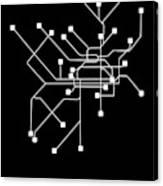 Black Philadelphia Subway Map Canvas Print