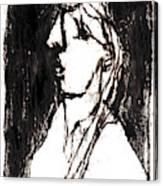 Black Side Portrait Canvas Print
