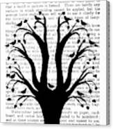 Blackbirds In A Tree - Central Canvas Print