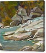 Blindman River, Blackfalds Canvas Print