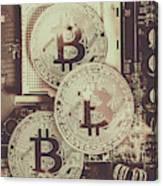 Blocks Of Bitcoin Canvas Print