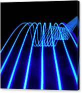 Blue Abstract Coloured Lights Trails Canvas Print