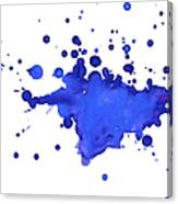 Blue Blobs On The Paper Canvas Print
