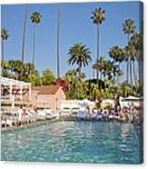 Blue-bottomed Pool Beneath Palm Trees Canvas Print