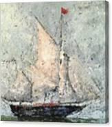 Blue Clipper On Emerald Sea Canvas Print