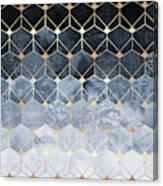Blue Hexagons And Diamonds Canvas Print