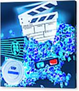 Blue Screen Entertainment Canvas Print