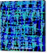 Blue Vibes 28 Canvas Print