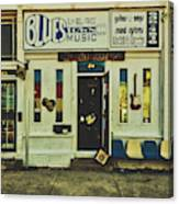 Blues Town Music Store Canvas Print