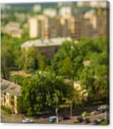 Blurry Tilt-shift Cityscape Background Canvas Print