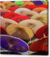 Bo Sang Umbrellas, Thailand Canvas Print