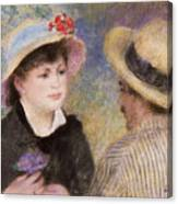 Boating Couple  Said To Be Aline Charigot And Renoir      Canvas Print