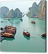 Boats Of Halong Bay Canvas Print