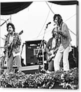 Bob Dylan & Neil Young Performing At Canvas Print