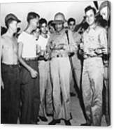 Bob Hope Signing Autograph For Soldiers Canvas Print
