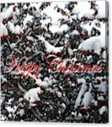 Happy Christmas 12 Canvas Print